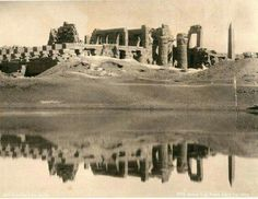 The Grand Temple and Sacred Lake at Karnak in the 1870s.