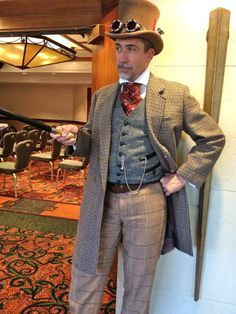 Tweed steampunk | That's a lot of tweed - Steampunk gent More