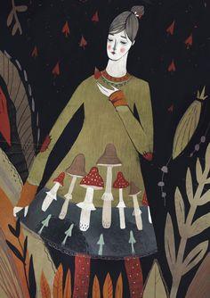 Mushroom dress by Alexandra Dvornikova