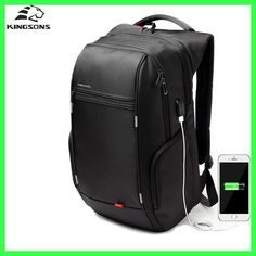Cheap laptop backpack, Buy Quality computer backpack directly from China waterproof backpack bag Suppliers: Kingsons Men Laptop Backpack External USB Charge Computer Backpacks Anti-theft Waterproof Bags for Men Notebook Rucksack, Laptop Rucksack, Computer Backpack, Computer Bags, Men's Backpack, Laptop Bags, Briefcase, Elite Backpack, Leather Backpack
