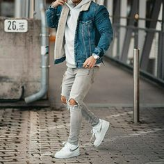 visit our website for the latest men's fashion trends products and tips . Modern Men Street Style, Casual Street Style, Mens Clothing Styles, Men's Clothing, Nike Outfits, Stylish Men, Cool Suits, Mens Fashion, Fashion 2020