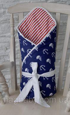 Конверт-одеяло на выписку Морской Деми, фото 2