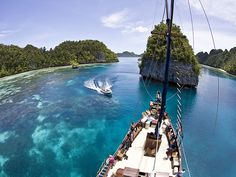 The coral islands of Raja Ampat, part of southeast Asia's Coral Triangle