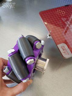 printer design printer projects printer diy Printing Printing Omni-directional wheel printed on a SkyOne printer you can find sim. 3d Printer Designs, 3d Printer Projects, Cnc Projects, Impression 3d, Mecanum Wheel, Metal 3d Printer, 3d Mobile, Engineering Tools, Robotics Projects