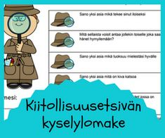 Kiitollisuustaidot Social Skills, Mathematics, Elementary Schools, Mindfulness, Teaching, Feelings, Comics, Kids