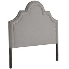 Ella Ii King Pewter Upholstered Headboard