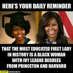 A beautiful intelligent black woman with a beautiful soul! Classy First Lady~ Michelle Obama