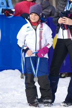 Princess Ingrid Alexandra of Norway attends the 50th Ridderrenn skiing competition for the visually impaired on 13 April 2013 in Beitostoelen, Norway.