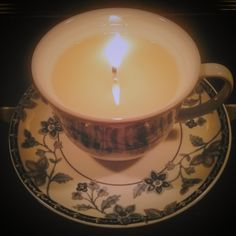 tea cup candle  www.mkt.com/thewitcheshearthshop