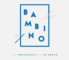 BAMBINO Typeface on Behance