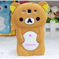 3D Rilakkuma Bear Silicone Soft-Hülle  für Samsung Galaxy S3