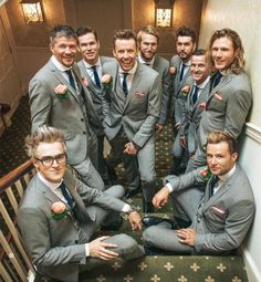 Danny's Wedding so half his best men are McFly.I'll have to investigat for the two ushers and the last best man. maybe Luke and the other Dan? Mr And Mrs Jones, Tom Fletcher, Dougie Poynter, Music Words, My Boys, Perfect Wedding, Famous People, Beautiful Men, Musica