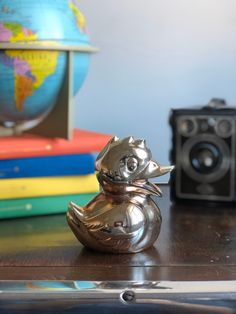 Excited to share this item from my shop: Vintage silver plated metal duck coin bank great patina perfect shelfie pet /Scandinavian / piggy bank Shelfie, Vintage Children, Piggy Bank, Vintage Silver, Silver Plate, Traveling By Yourself, Scandinavian, Coins, Rings For Men