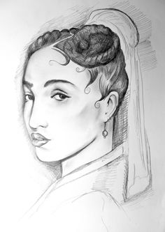 FKA TWIGS AS THE GIRL WITH THE PEARL EARRING BY AL SAULSO MAY 2015