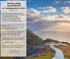 Glamping Highland Roadtrip and Click Maps   Our clickable Highland Roadtrip Map Guide for your #Summer2018 Adventure - Maritime style! Happy #glamping and #camping @livelifeintents @BigSpruceBrew @northriverkayak @TourismCB @TourismNS Cape Breton, Nova Scotia, Hostel, Glamping, Tent, Maps, Road Trip, River, Vacation