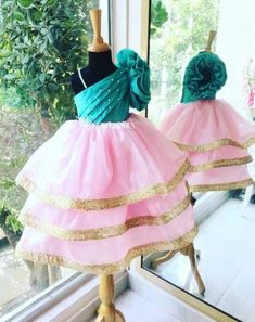 Call or whatsapp 8288944518 to order this beautiful Little gown Customizations available. Party Wear Frocks, Kids Party Wear Dresses, Baby Girl Party Dresses, Wedding Dresses For Girls, Dresses Kids Girl, Ball Dresses, Kids Frocks Design, Baby Frocks Designs, Long Frocks For Kids