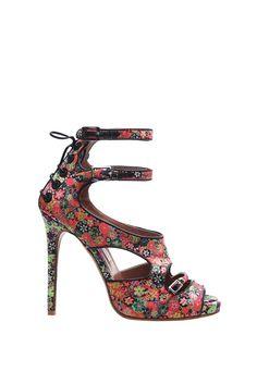 A Tabitha Simmons spring '12 Bailey sandal in custom floral silk.