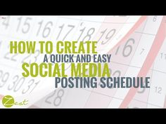 How to create a quick and easy social media posting schedule [Video] - Zest Communications