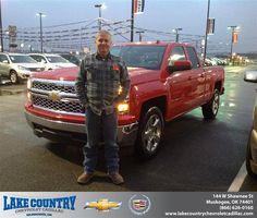 #HappyAnniversary to Joe Stoneburner on your 2014 #Chevrolet #Silverado 1500 from Dustin Davis at Lake Country Chevrolet Cadillac!