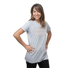 Whether you became a fan of Star Wars a long time ago in a galaxy far, far away, or you've only recently discovered its epic storytelling magic, this ladies' shirt shows your support for the newest movie in the saga, no matter if your allegiance is to the