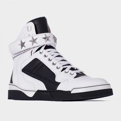 Givenchy Tyson Leather Sneakers in White for Men (black)  0e00516c1