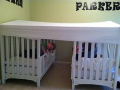 Twin boy toddler beds with a fitted queen sheet....perfect fort bed!