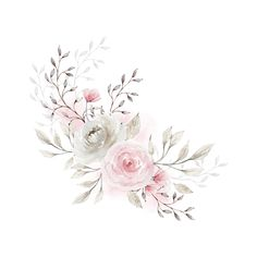 Floral Wreath Watercolor, Watercolor Flowers, Watercolor Paintings, Floral Rosa, Arte Floral, Flower Wallpaper, Wallpaper Backgrounds, Flower Frame, Flower Art