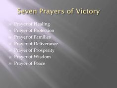 Seven Prayers of Victory - Introduction - Part 1 of 8