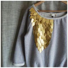 DIY Women's Fashion Ideas anyone can do Do It Yourself Mode, Do It Yourself Fashion, Fashion Details, Diy Fashion, Womens Fashion, Fashion Ideas, Fashion Online, Diy Sweatshirt, Diy Shirt