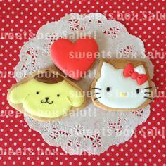Pompompurin!  Sanrio  キティちゃん、マイメロちゃん、サンリオキャラのアイシングクッキー   sweets box Salut!