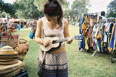 Someday I will learn to play the ukulele. And then we will dance around campfire and sing our favorite songs. Bohemian Style, Boho Chic, Bohemian Summer, Karl Pilkington, Free People Clothing, Hippie Love, Playing Guitar, Hippy, Beautiful People