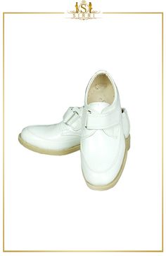 BABY BOYS SINGLE VELCRO FORMAL WHITE SHOES. Shop now at SIRRI kids #shoes for boys ideal for #wedding #communion online...Elegant fashion for children and men. #fashion #shopping