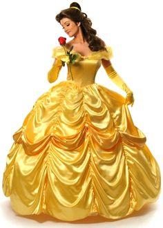 z- Woman Standing w Flower (Disney Belle Dress- ad)