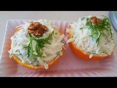 Kereviz Salatası Elmalı ve Yoğurtlu Sağlıklı Lezzetler - YouTube Soup Recipes, Dinner Recipes, Celery Salad, Healthy Salads, Diet And Nutrition, Yogurt, Pasta, Appetizers, Food And Drink