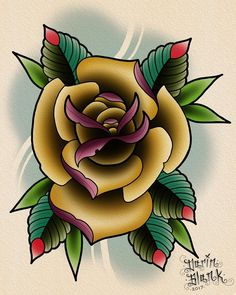 """4 Likes, 2 Comments - Darin Blank (@darinblanktattoos) on Instagram: """"Rose from today. Design is up for grabs, if you'd like it tattooed message me.…"""""""