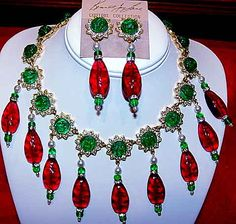 Past and Present Jewelry - KJL Maharani Necklace and Earring Set