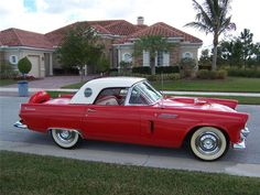 Lot Number:	 369.1	    Auction:	 PALM BEACH 2012  Status:	 SOLD  Sale Type:	 NO RESERVE  Price:	*$45,100.00  Year:	 1956  Make:	 FORD  Model:	 THUNDERBIRD  Style:	 CONVERTIBLE  VIN:	 P6FH347688  Exterior Color:	 RED/WHITE  Interior Color:	 RED/WHITE  Cylinders:	 8  Engine Size:	 312  Transmission:	 AUTOMATIC