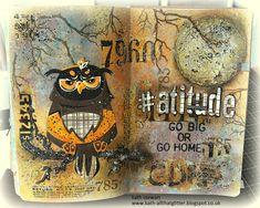 Scrapbook Journal, Scrapbook Cards, Scrapbooking, Art Journal Pages, Art Journals, Journal Ideas, Simon Says Stamp Blog, Grunge Art, Creative Journal