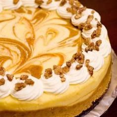 This is a wonderful pumpkin cheesecake with a gingersnap crust. The gingersnap really does make a difference.