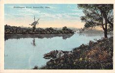 Zanesville Ohio scenic view Muskingum River from shore antique pc (Z39095) | eBay