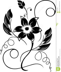 Black And White Pattern Art Deco Nouveau