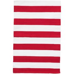 Dash & Albert Catamaran Stripe Red & White Indoor/Outdoor Rug ($46) ❤ liked on Polyvore featuring home, rugs, striped outdoor rug, outdoor floor covering, stripe outdoor rug, stripe rugs and indoor outdoor rugs