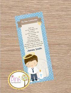 First Communion Favor Cards/ Bookmark / First Communion Boy/ Recuerdo de Primera Comunion Niño de PinkCajasyTarjetas en Etsy https://www.etsy.com/es/listing/229239212/first-communion-favor-cards-bookmark