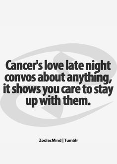 Loving late night conversations about anything. It shows you care to stay up with us. :)