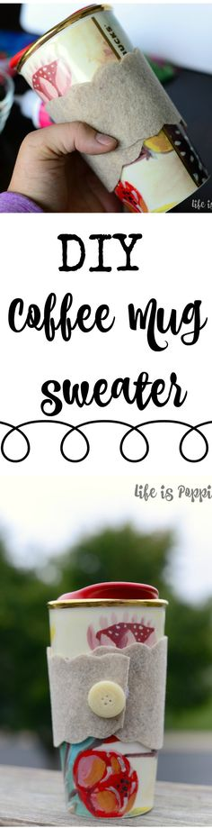 Easy Coffee Mug Sweater - They are cheap, easy and work perfectly! Plus, they make a really cute gift idea for the coffee or tea lover in your life. The possibilities are endless with this DIY idea.