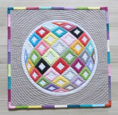 Mini quilt by Geta Grama, author of Shadow Trapunto Quilts (C&T Publishing)