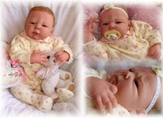 Reborn Baby girl Chelsea.. Noele kit by Adrie Stoete..7 lbs & 5 oz's...21 inches...rooted hair..Created by me..2010...