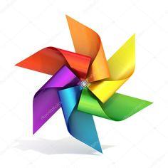 Downloaden - Kleurrijke papier molen speelgoed — Stockbeeld Paper Windmill, Free Paper, Toys, Color, Paper, Activity Toys, Clearance Toys, Colour, Gaming