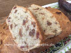 Bananenbrot mit Datteln und Walnüssen Grob, Bread, Desserts, Bakken, Food Food, Eggs, Tailgate Desserts, Deserts, Postres