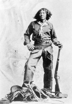 Here is one of the most famous black cowboys of them all, Nat Love, who was responsible for his own fame by being one of the few black cowboys to write an autobiography.